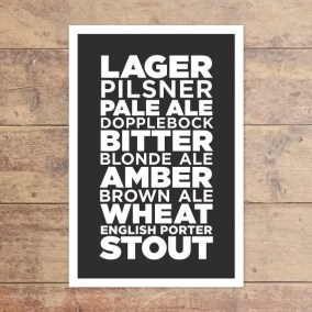 Printable Beer Art from MedianAndMain on Esty. Starts at $15 | Super-Last-Minute Gifts for Beer Lovers | BottleMakesThree.com