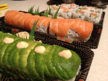 My first sushi feast after Clark was born. The question is: did I really have to wait 9 months?