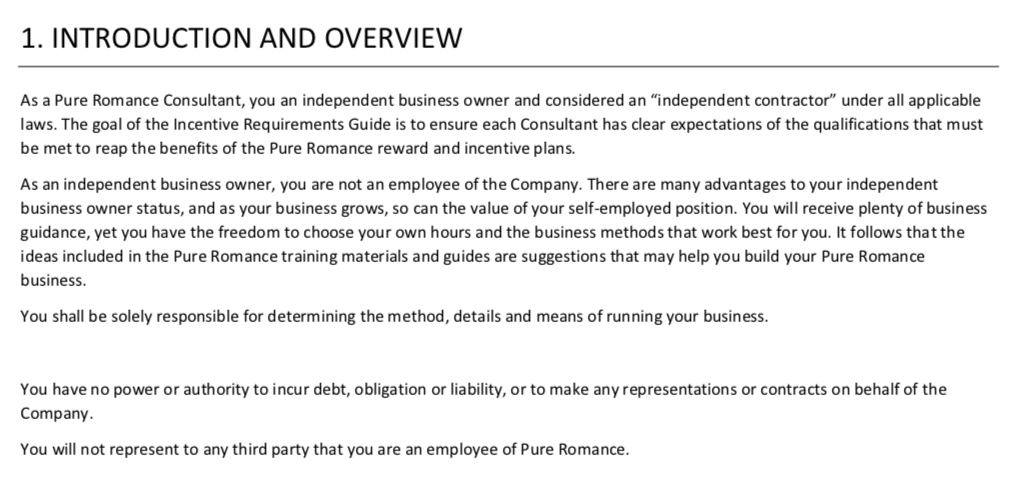 Pure Romance 2018 Incentive Requirements Guide