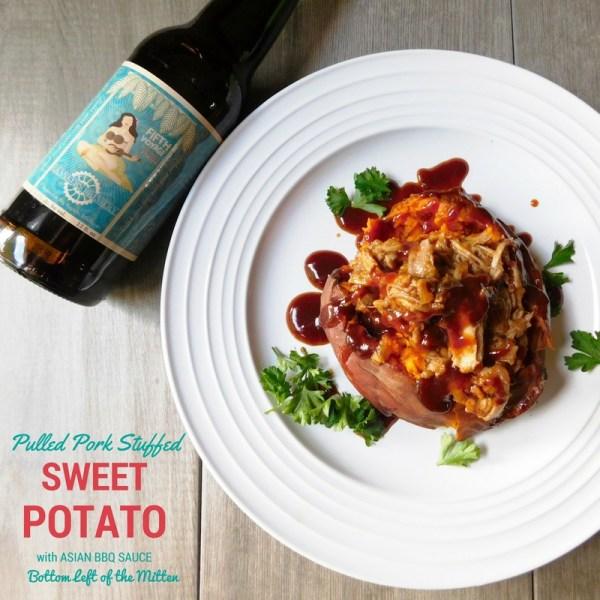 Pulled Pork Stuffed Sweet Potato from Bottom Left of the Mitten