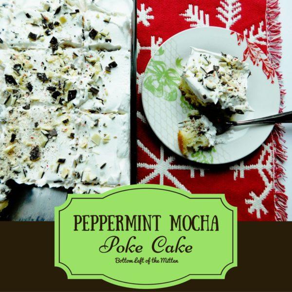 Peppermint Mocha Poke Cake | Bottom Left of the Mitten