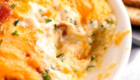 Hot Bacon Cheddar Dip from Spend With Pennies | 'Celebrate with 8' for National Chip & Dip Day | Bottom Left of the Mitten