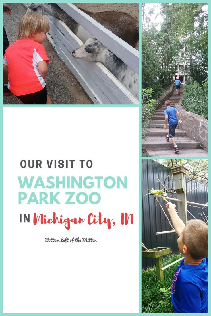 Visit to Washington Park Zoo in Michigan City | Bottom Left of the Mitten #zoovisit #funwithkids #michigancity