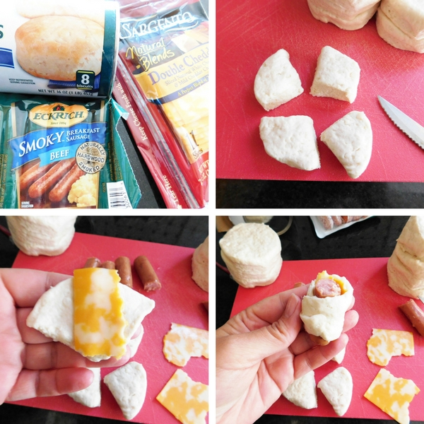 How to make Pigs in a Blanket step-by-step.