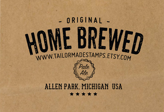Craft Beer Stamp from Tailor Made Stamps | Craft Beer Lovers Gift Guide | Bottom Left of the Mitten