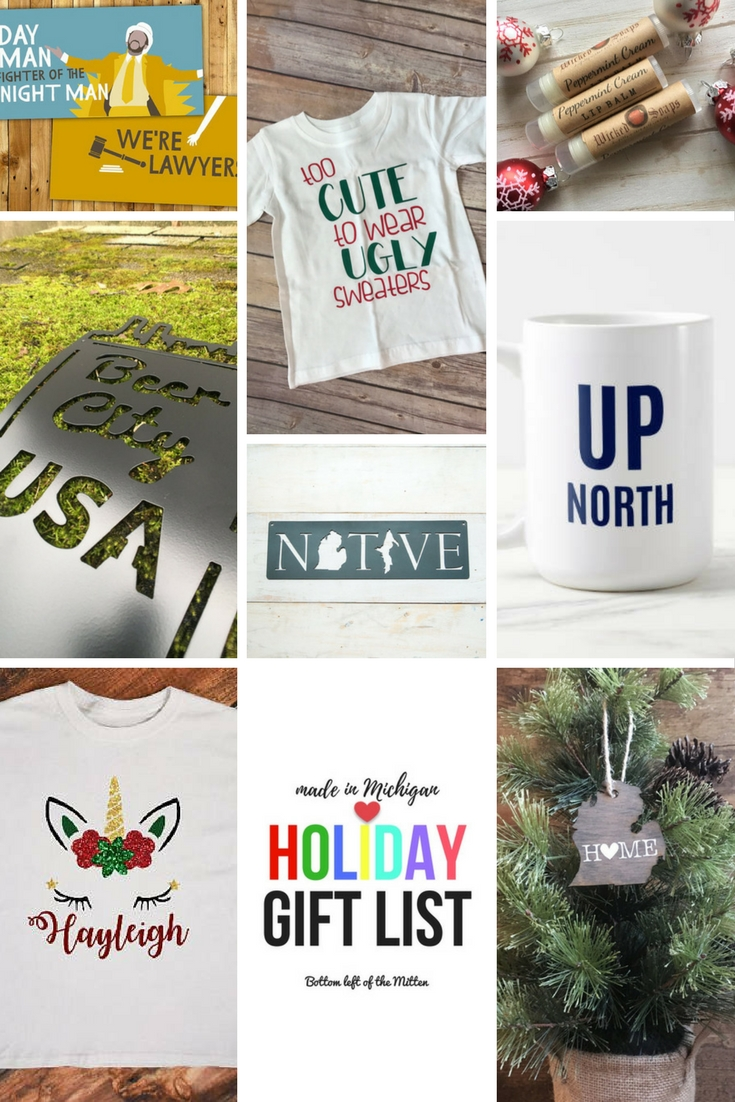Made in Michigan Holiday Gift List | Bottom Left of the Mitten #giftguide #michigan