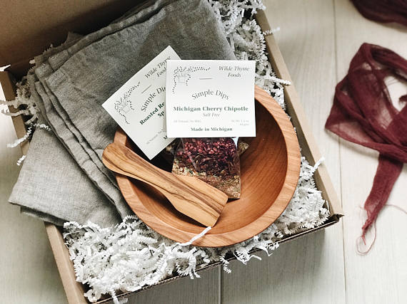 When I Dip, You Dip, We Dip Box from BoxedByBare | Made in Michigan Holiday Gift List | Bottom Left of the Mitten