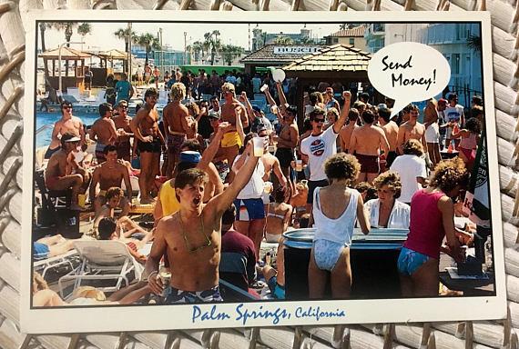 80s Spring Break Palm Springs California Postcard from Voodoo Vixen Vintage | Spring Break Must Haves| Bottom Left of the Mitten
