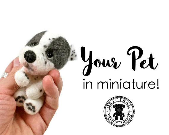 Felted Dog from Original Sock Dogs | Celebrate with 8 for National Pet Day | Bottom Left of the Mitten