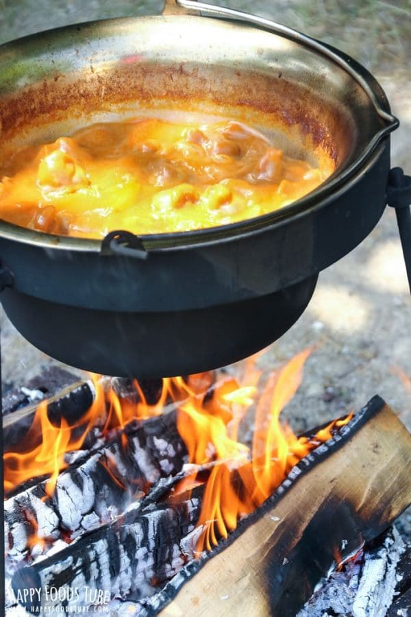 Simple Campfire Stew from Happy Foods Tube | 'Celebrate with 8' Camping Fun | Bottom Left of the Mitten