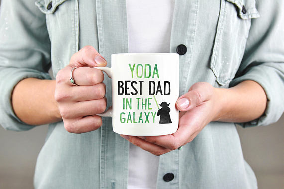 Yoda Best Dad Mug from DuneStudio | Fathers Day Gift Guide | Bottom Left of the Mitten