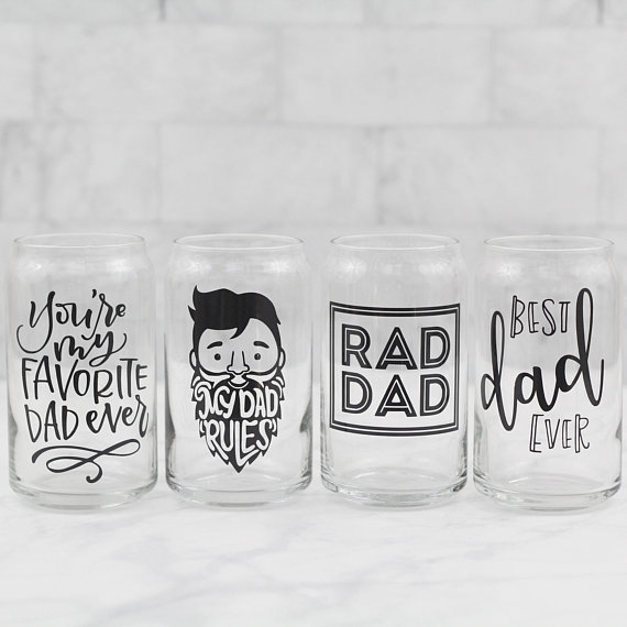 Fathers Day beer glass from CrazyLovely | Fathers Day Gift Guide | Bottom Left of the Mitten