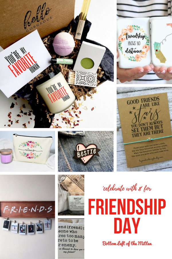 Looking to give back to the friends that mean so much in your life? Check out this Gift Guide to celebrate Friendship Day! #giftguide #friendship #friends #giftforher #friendshipgift #bestfriend #bff #giftsforher #giftideas #friendshipday #holidaygiftguide