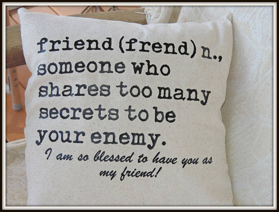friend definition pillow from carrabelle | Celebrate with 8 for Friendship Day | Bottom Left of the Mitten
