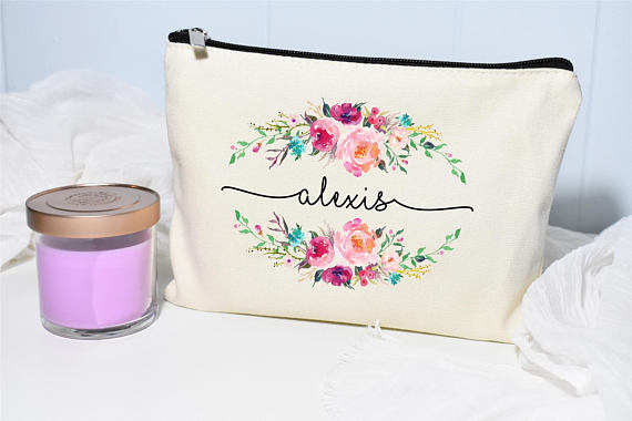 Personalized Makeup Bag from MoonwakeDesignsCo | Celebrate with 8 for Friendship Day | Bottom Left of the Mitten