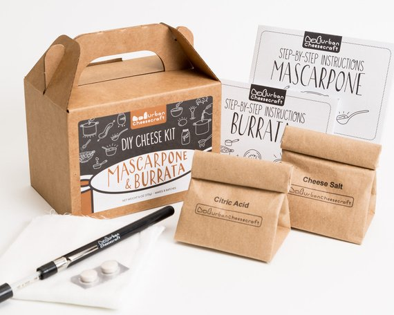 Burrata & Mascarpone DIY Cheese Kit from UrbanCheesecraft | Foodie Gift Guide | Bottom Left of the Mitten