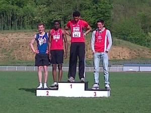 Jimmy, troisième au décathlon juniors hommes