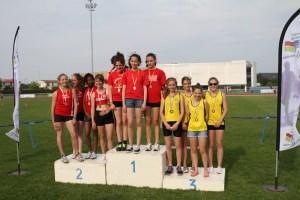 Les minimes filles vice-championnes de Picardie sur 4*60m