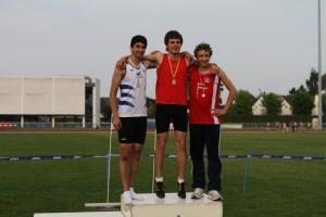 Victor médaillé de bronze sur 100m haies