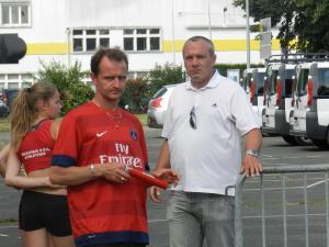 Patrice et Johan son nerveux avant la course!