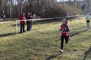 Laura au sprint à l'arrivée
