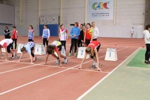 Clara au départ de sa finale du 50m