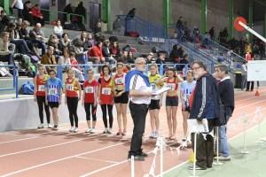 Laura, Marion et ROmane au départ du 1000m
