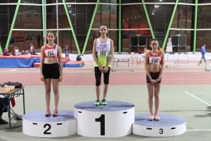 Marion et Romane sur le podium du 1000m