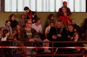 Les supporters dans les tribunes!