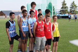 Les minimes garçons vainqueurs du relais