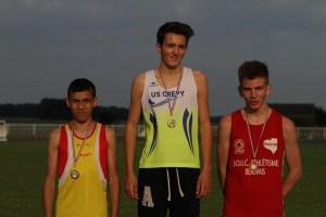 Podium du 1000m minimes garçons