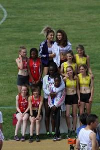 Les minimes filles, vice-championnes de Picardie sur 4*60m