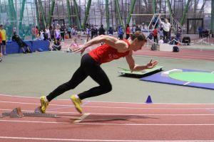 Alexis au départ du 200m