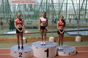 Margaux 2nde et Romane 3ème au triple saut