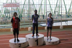 Arthur vice-champion de Picardie sur 50m haies