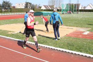 Jean-Pierre à la fin de son 5000m marche