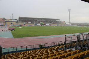 Le stade d'Albi sous la pluie l'an dernier lors des France espoirs et nationaux