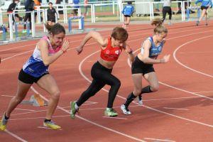 Ethel au départ du 100m