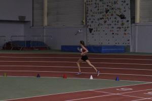 Clara à la fin de son 1000m