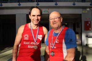 Darek et François médaillés au poids M50