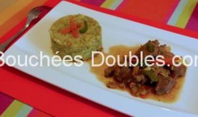 Canard sauté sauce soja et purée de 4 légumes 2
