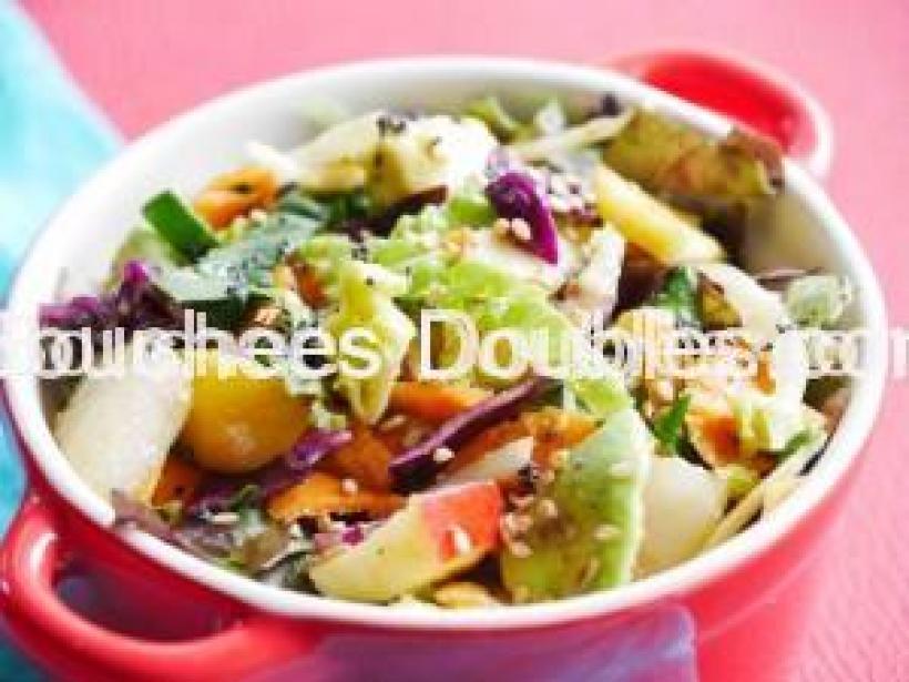 Salade aux saveurs d'agrumes pla rapproché