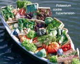 Alimentation alcaline et potassium contre hypertension
