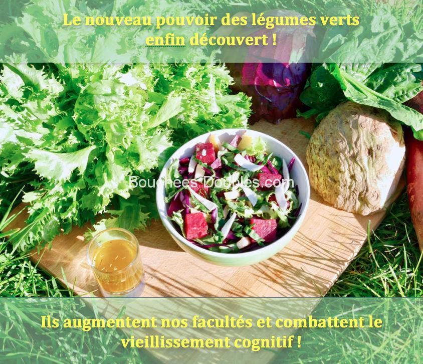 Les légumes verts anti-déclin cognitif