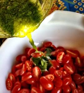 Tomates et pesto