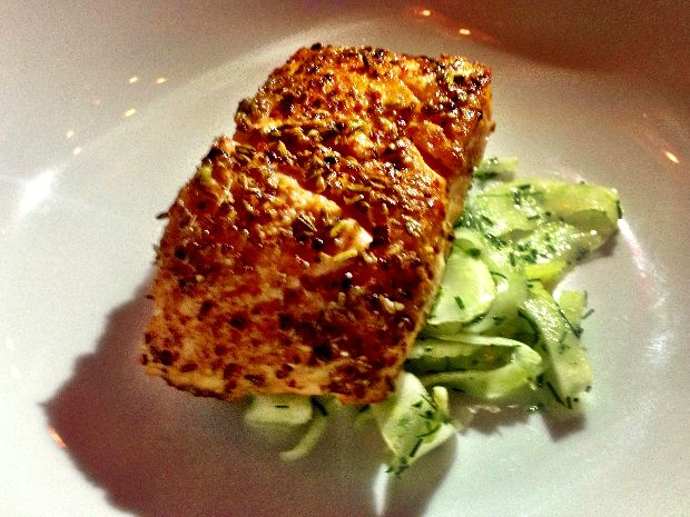 Filet de saumon, mélange d'épices maison