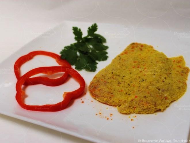 Poulet pané légumes