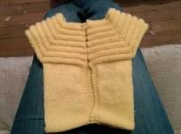 Le tricot fini sans les finitions