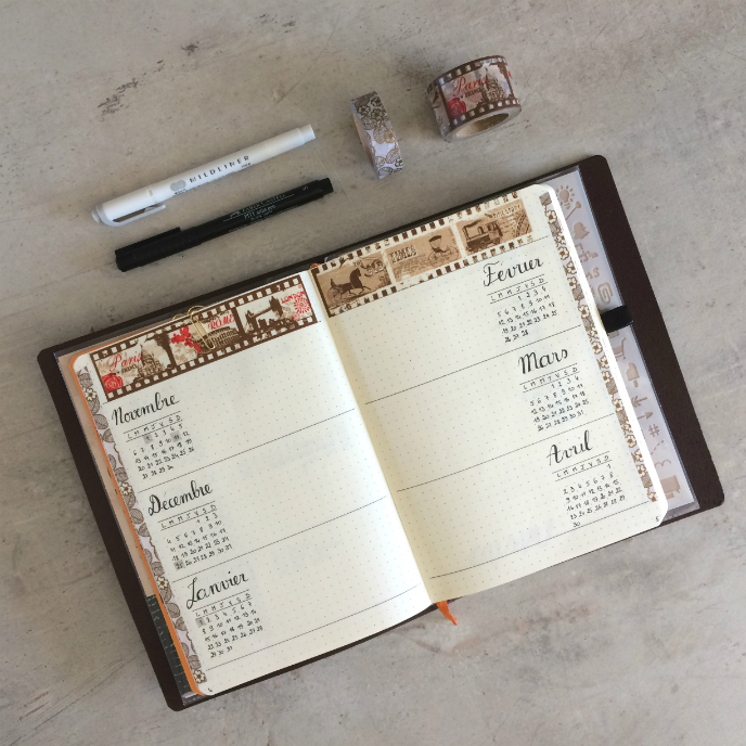 Transfert Bullet Journal Future log