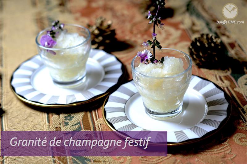 La recette de mon granité de champagne festif - bouffeTIME
